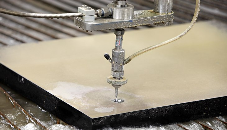 Waterjet cutting of heavy steel plate
