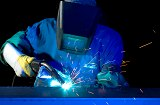 MIG Welder at Schebler Specialty Fabrication