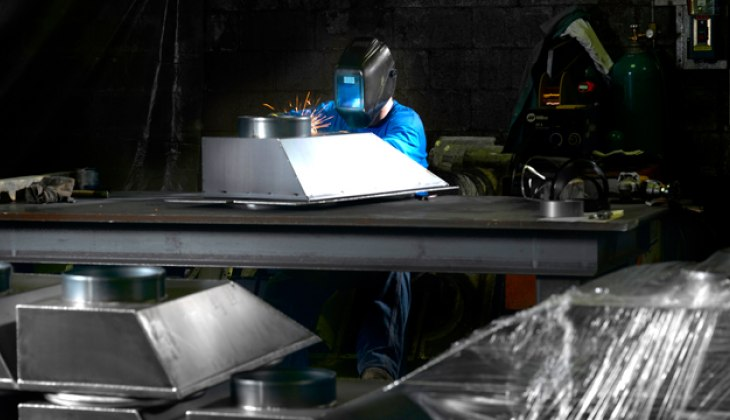 Production MIG Welding at Schebler Specialty Fabrication