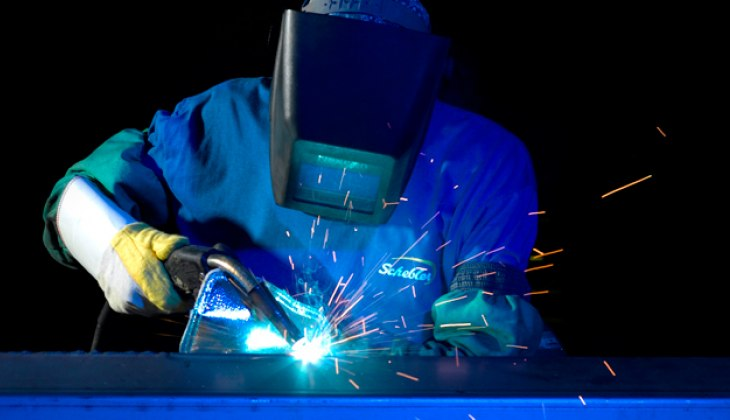 MIG Welding at Schebler Specialty Fabrication