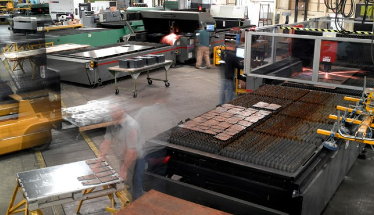 Laser cutting at Schebler Specialty Fabrication