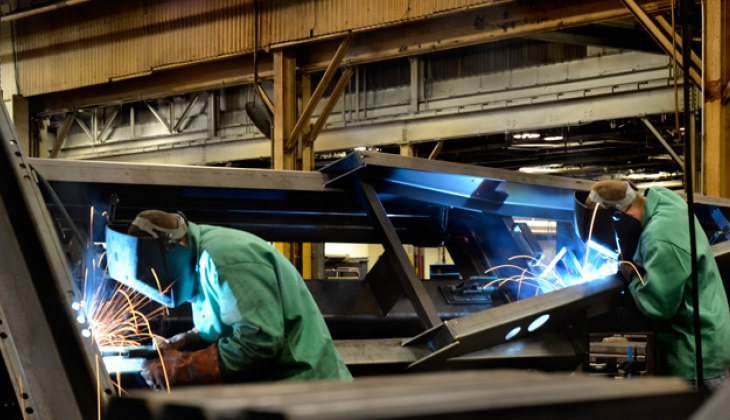 Heavy Production Welding at Schebler Specialty Fabrication