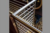 Custom stainless steel tubular handrail system.