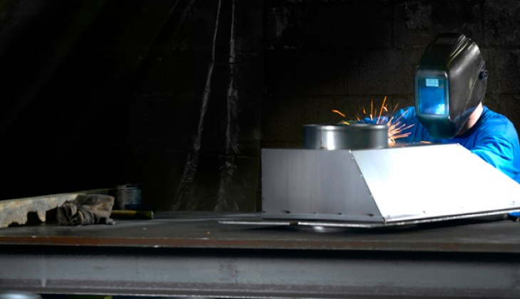 Sheet metal housings. Complete fabrication including MIG welded, laser cutting and forming