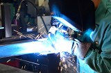 Structural steel production assembly. Complete fabrication with laser cutting, forming, welding and powder coating