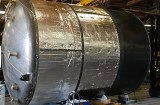 14 ft diameter stainless steel inner-tank with insulation wrap.
