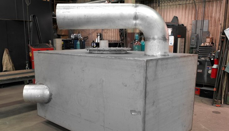 Customer rectangular galvanized steel tank