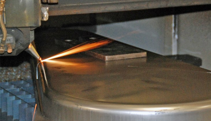 Laser cutting of pre-stamped sheet metal housing